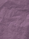 Texture of crumpled paper sheet violet textured background Royalty Free Stock Image