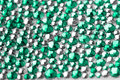 Texture with crystals green and silver Royalty Free Stock Photo