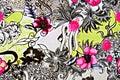 Texture fabric of retro flower Royalty Free Stock Photo