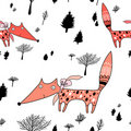 Texture of foxes in the forest Royalty Free Stock Photo