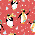 The texture of gay penguins Royalty Free Stock Image