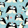 Texture gay penguins Stock Photos
