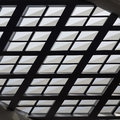 Texture of interior roofing skylight modern design background and Stock Photos