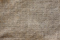 Texture of jute bag individual fibers visible entanglement and structure fabric macro Royalty Free Stock Photos