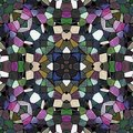 Texture kaleidoscope pattern with many color