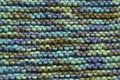 Texture of knitting wool in green blue and brown color Royalty Free Stock Photo