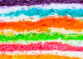 Texture layer of rainbow cake using for background Royalty Free Stock Photography