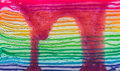 Texture layer of rainbow cake using for background Stock Photography