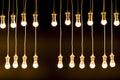 Texture Made By Light Bulbs Ov...
