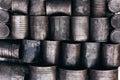 Texture of metal tins Royalty Free Stock Photo