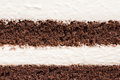 Texture of mousse and chocolate cake detail layer Royalty Free Stock Image