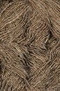 Texture of natural yarn closeup weave brown Stock Images