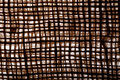 Texture old canvas jute fabric background a Stock Photography