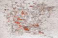 Texture of old damaged brick wall background with white stucco Royalty Free Stock Photos