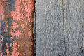 Texture of an old natural wooden planks and rusty metal pipes c Royalty Free Stock Photo