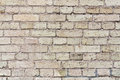 Texture old ruined beige brick wall Royalty Free Stock Photos
