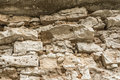 Texture of an old ruined brick wall of an ancient building Royalty Free Stock Photo