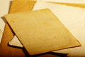Texture old vintage yellowed paper, writing papers Royalty Free Stock Photo