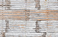 Texture of old white painted bamboo wood planks Royalty Free Stock Photo