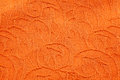Texture of orange brocade fabric and pattern Royalty Free Stock Photography