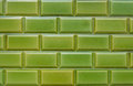 Texture, pattern, background, wallpaper of green clinker bricks Royalty Free Stock Photo