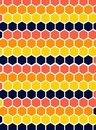 Texture Pattern Hexagon Repetition Solid Color