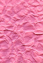 Texture pink crumpled fiber paper Royalty Free Stock Images
