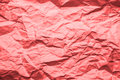 Texture Of Pink Crumpled Paper Background