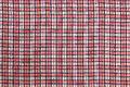 Texture of plaid fabric in red black and white Royalty Free Stock Images
