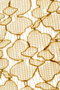 Texture,print and wale of fabric abstract yellow pattern Royalty Free Stock Photo
