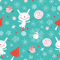 Texture rabbits with candy Royalty Free Stock Photo