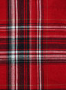 Texture of red-black checkered fabric Stock Photos