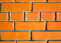 Texture of red brick wall background modern architecture toned Stock Photo