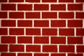 Texture of red brick wall close up Royalty Free Stock Photo