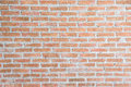 Texture red bricks wall background of old vintage Royalty Free Stock Photo