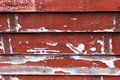 Texture red wooden boards with peeling paint Royalty Free Stock Images