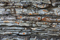 Texture rock band layers stone Stock Photography