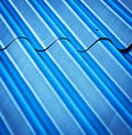 Texture roof with corrugated steel Royalty Free Stock Photo