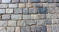 Texture of rough stone on the road Royalty Free Stock Photo