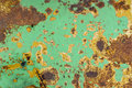 Texture of rusty painted metal Royalty Free Stock Image