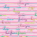 Texture - Seamless pattern -  multicolored bright letters on a pink background Royalty Free Stock Photo
