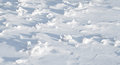 Texture of sharp hilly snowdrift Royalty Free Stock Image