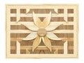 Texture of slat flower wall on wood