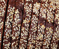 Texture of sliced rye bread with cereals Royalty Free Stock Photo
