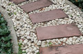 Texture of Stone Path. Royalty Free Stock Photo
