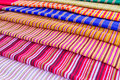 Texture of Thai cloth Stock Photo