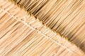 The texture of thatched roof at the hut in the countryside. Royalty Free Stock Photo