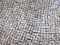 Texture tile Street in Portuguese style Royalty Free Stock Photo