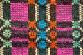 Texture of traditional colorful rug textile ethnic rustic carpe carpet or cover design Royalty Free Stock Photo