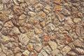Texture wall of many stones Royalty Free Stock Photo